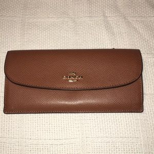 Coach Brown Pebbled Leather Wallet
